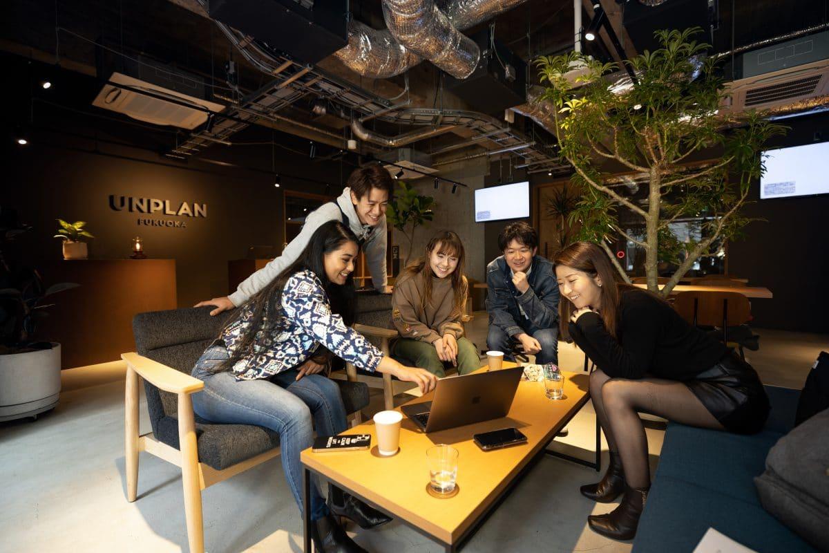 UNPLAN Fukuoka ラウンジ